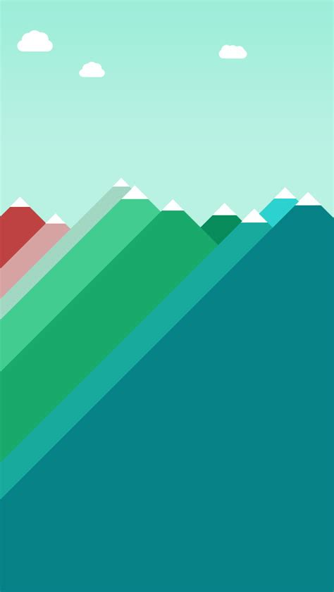 Wallpaper Iphone 5 Flat | flat mountains illustration wallpaper free iphone wallpapers