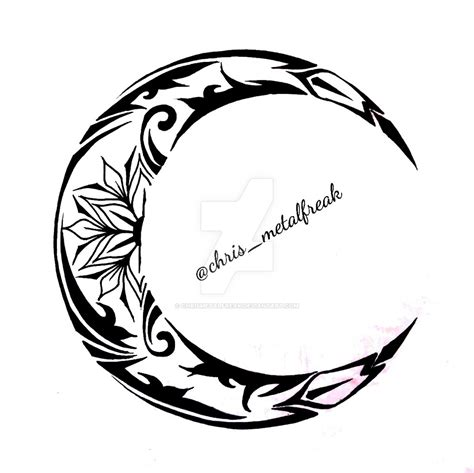 tribal crescent moon tattoo tribal moon design www imgkid the image kid