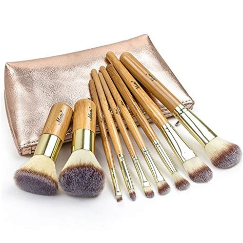 9 Makeup Brush Set matto 9 bamboo makeup brush set with travel bag