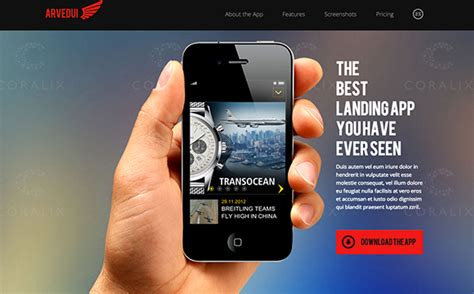 30 Mobile App Landing Page Templates Designm Ag Mobile App Templates