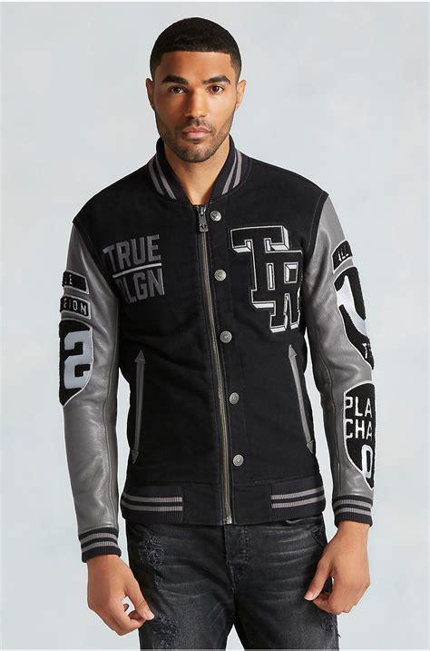 mens designer varsity jacket true religion collegiate moleskin mens varsity jacket in