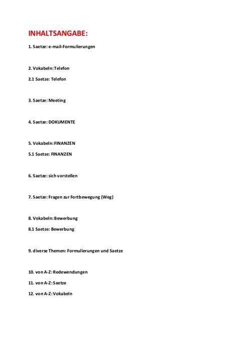 Bewerbung Auf Englisch Fur Deutschland Englisch Redewendungen E Mail Telefon Meeting