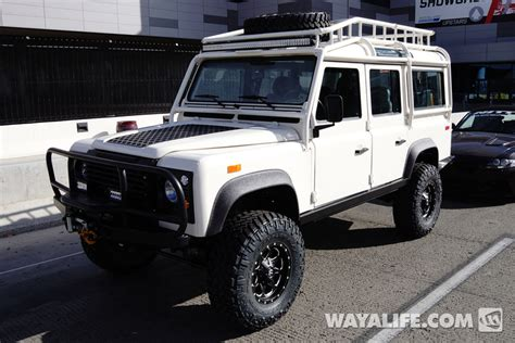 land rover white 2014 2014 sema white land rover defender 110