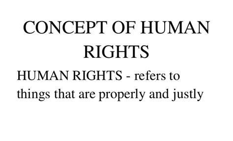 human rights section 6 concept of human rights