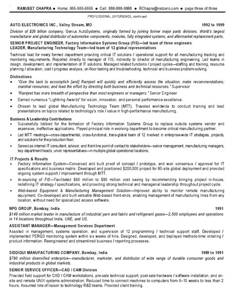 resume exles information technology manager resume