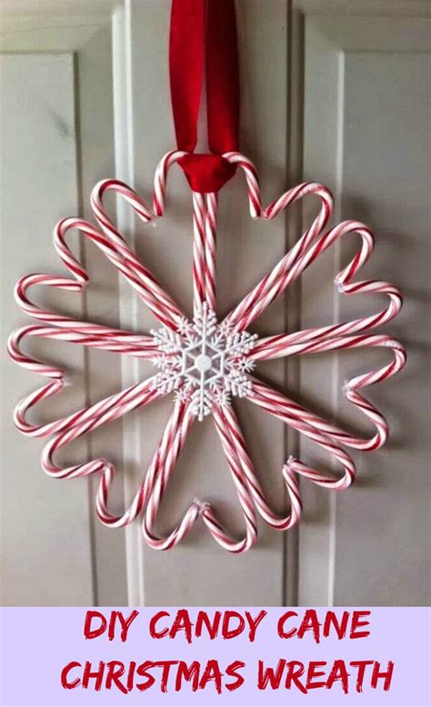 Wreath Ideas For Front Door by Diy Candy Cane Christmas Wreath My Honeys Place