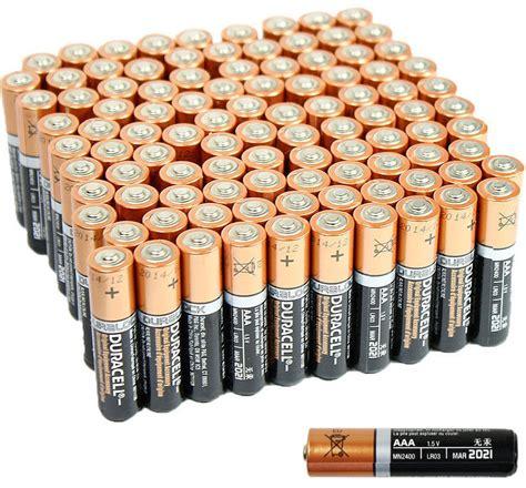 100 Aa Batteries Bulk - 100 pcs duracell aaa 1 5v alkaline batteries lr03 am4 bulk