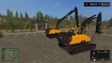 mod of let s farm game volvo ec300e pack v1 0 fs17 farming simulator 17 mod