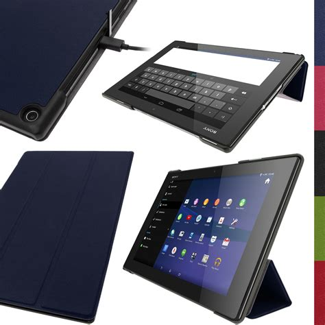 Flip Samsung Z2 pu leather smart for sony xperia z2 10 1 quot sgp511 tablet stand flip cover