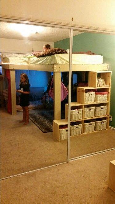 full size  shaped loft beds  storage steps bunk bed