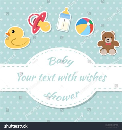 Text For Baby Shower Card by Baby Shower Invitation Card Place Text Stock Vector