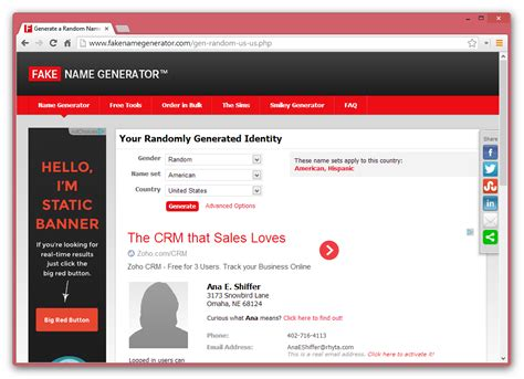 generate a random name fake name generator fakenamegenerator com is an excellent for sockpuppets