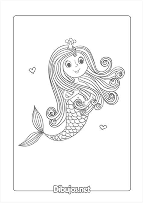 imagenes de sirenas faciles para dibujar 10 dibujos de sirenas para imprimir y colorear dibujos net
