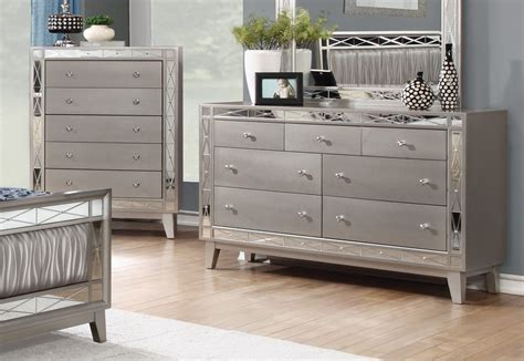 Mirrored Bedroom Dresser Brazia Mirrored Bedroom Furniture