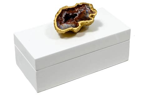 geode box 6 quot geode box gold white mapleton drive brands one