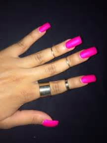 color acrylic nails square acrylic nails bright pink summer color with matte