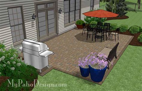 large rectangular paver patio design download plan mypatiodesign com