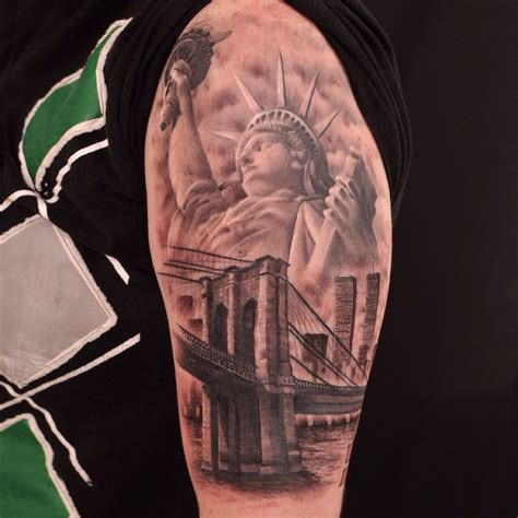 New York Sleeve Tattoo Google Search Tattos Tattoos Nyc