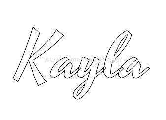 coloring pages of the name kayla 17 best images about my name on pinterest my name
