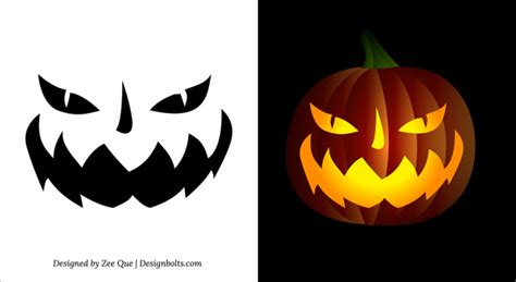 printable halloween pumpkin pictures 10 free printable scary pumpkin carving patterns stencils