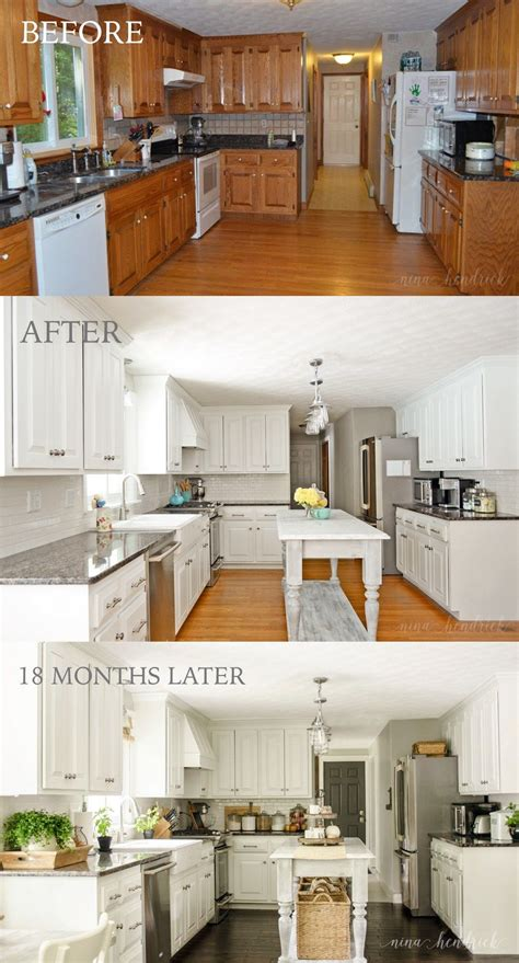 painting kitchen cabinets white before and after pictures how to paint oak cabinets and hide the grain white