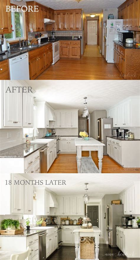 How to Paint Oak Cabinets and Hide the Grain   Kitchen