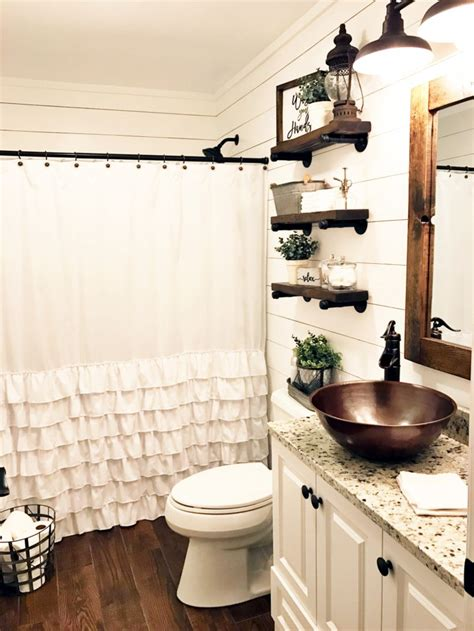 55 farmhouse bathroom ideas for small space round decor