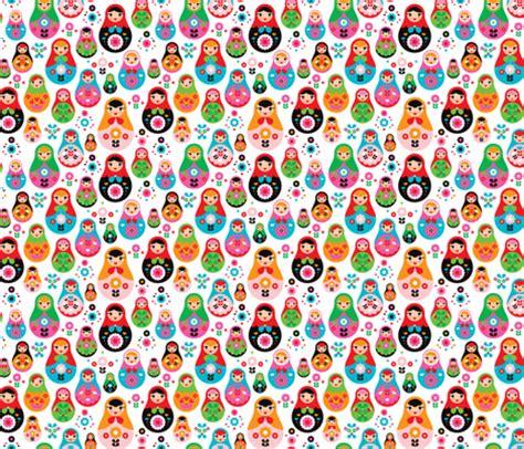 doll design wallpaper matryoshka russian doll kids colorful retro folk nesting