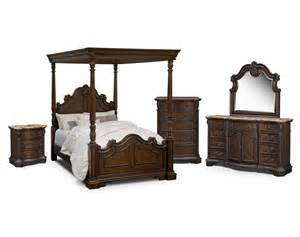 Monticello Canopy Bedroom Set The Monticello Pecan Canopy Collection Value City Furniture