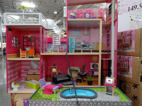 barbie doll house with swimming pool kidkraft uptown dollhouse