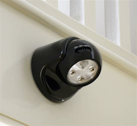 battery powered led motion activated outdoor security light auraglow battery operated pir motion sensor cordless led