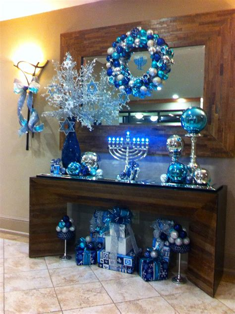 hanukkah decorations really like the giant glass ball on