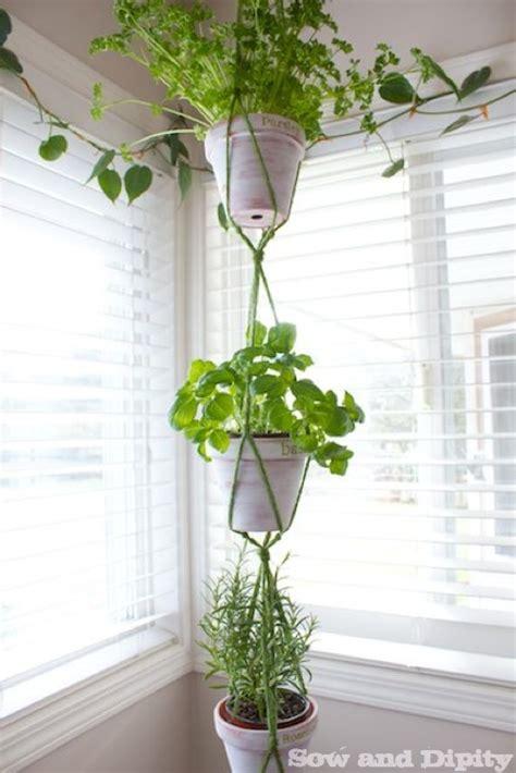 Potted Plant Hangers - easy diy macrame hanger