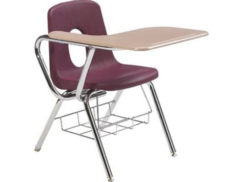 Tablet Arm Chair Desk Hard Plastic Top 16 Quot H Student Students Desks And Chairs