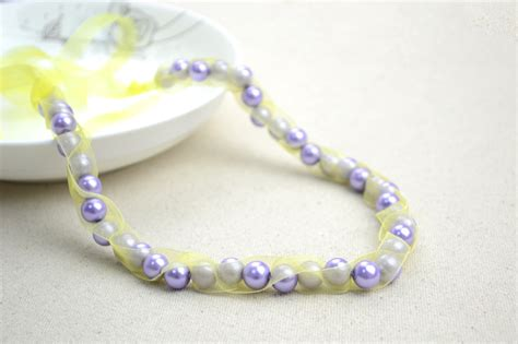 Handmade Beaded Necklaces - handmade beaded necklaces out of pearls and ribbons 183 how