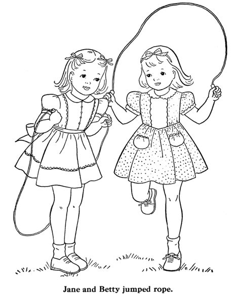 best color for girls bluebonkers girl coloring pages girls jump rope free