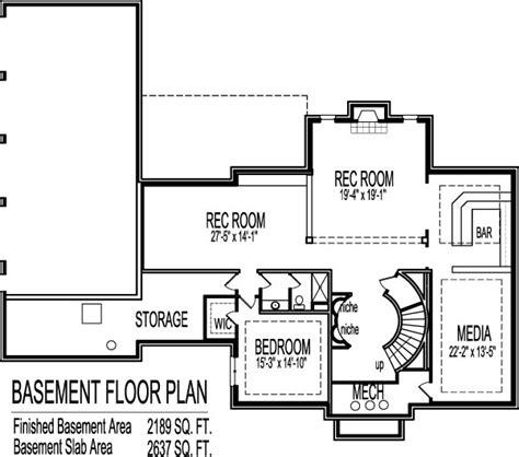 Modern Colonial House Plans 2 Story House Floor Plans Blueprint 4 Bedroom 4 Car Garage