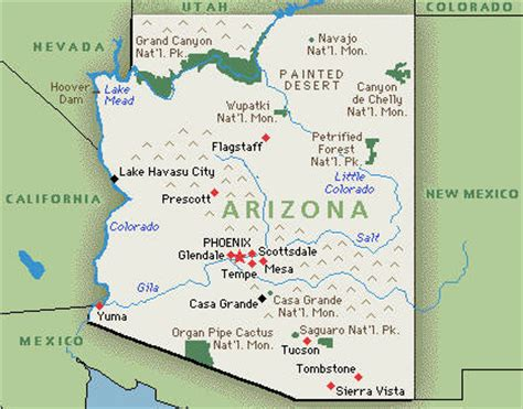us map nevada arizona arizona america map