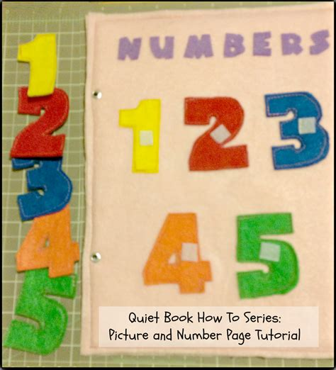 tutorial video numbers quiet book how to series picture and number page