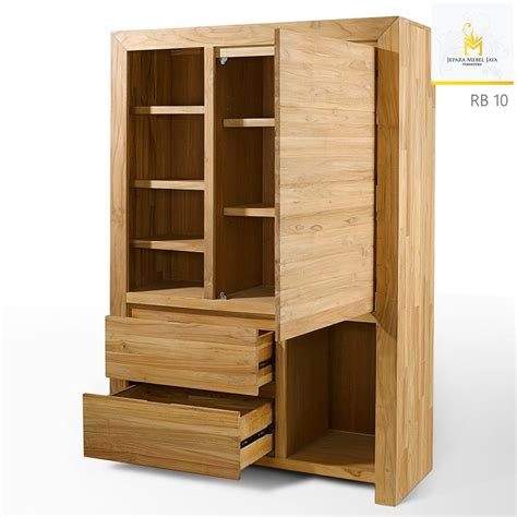 Lemari Pakaian Tempel harga lemari buku minimalis terbaru jati jepara