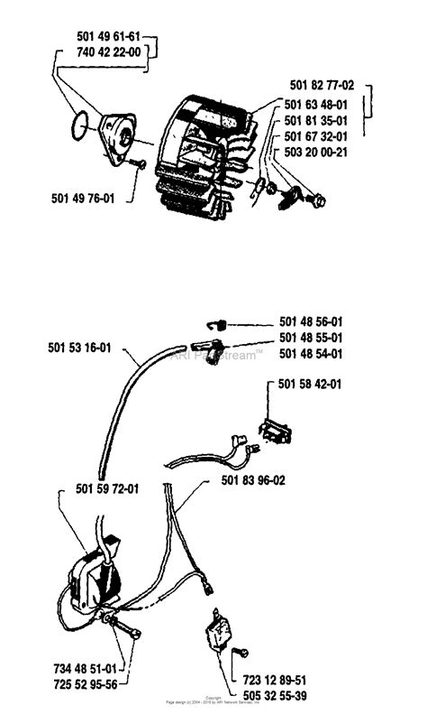 husqvarna    parts diagram  ignitionflywheel