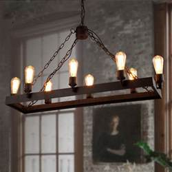 Rustic Chandelier Lighting Fixtures Rustic 8 Light Wrought Iron Industrial Style Lighting Fixtures