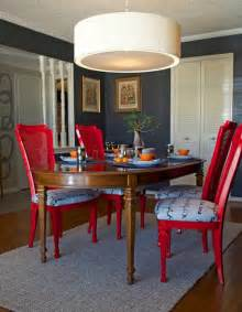 Painted Dining Room Furniture Ideas Diy Ideas Spray Paint And Reupholster Your Dining Room Chairs Eclectic Dining Room Dallas