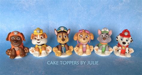 Paw Patrol Cake Decorations by Custom Cakes By Julie Paw Patrol Inspired Toppers