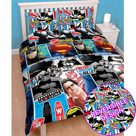 justice league bedroom superhero single double bedding marvel comics