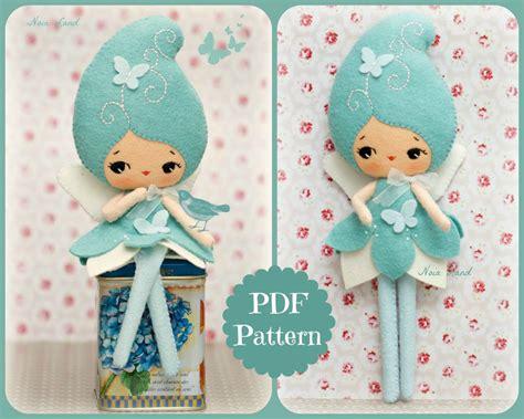 felt pattern pdf pdf blue fairy doll plush doll pattern softie pattern