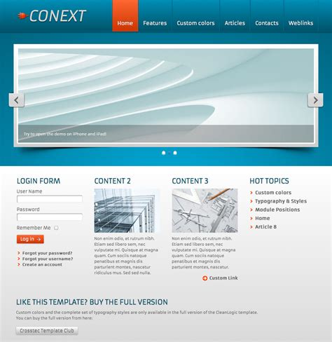 template joomla 3 free best photos of joomla business template free business