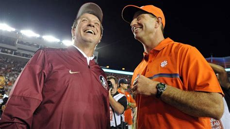 talks awards tigers and gamecocks clemson football news tigernet clemson football dabo talks fsu coach jimbo fisher fans