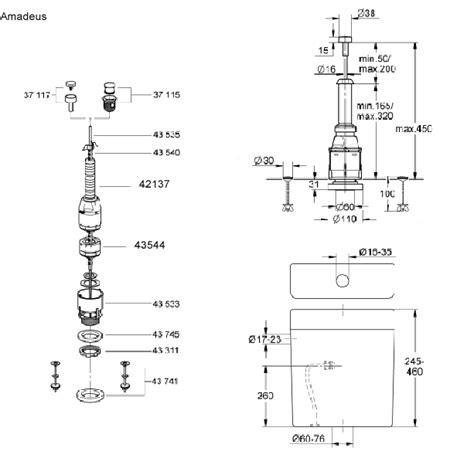 villeroy boch toilet parts grohe villeroy boch amadeus 43907 spare parts