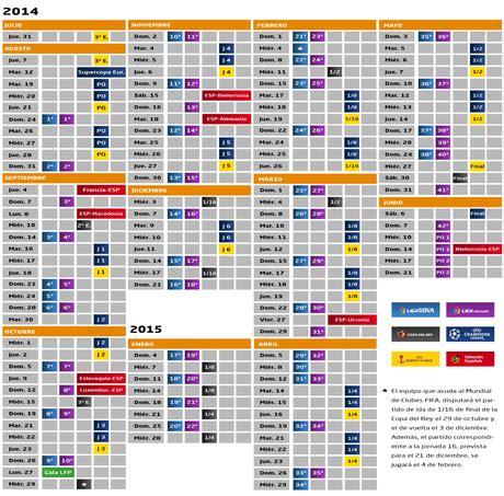 Calendario Futbol Espanol Calendario Liga Bbva 2014 205 Futbol Espa 241 Ol Paperblog